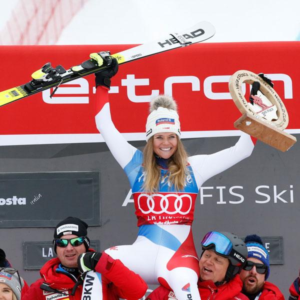 Corinne Suter crowned queen of the speed disciplines