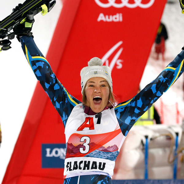 Anna Swenn-Larsson second in the Night Slalom in Flachau