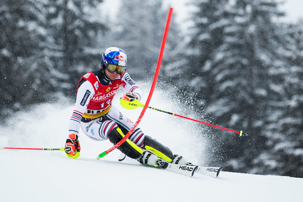 First podium finish in the Slalom this season for Alexis Pinturault