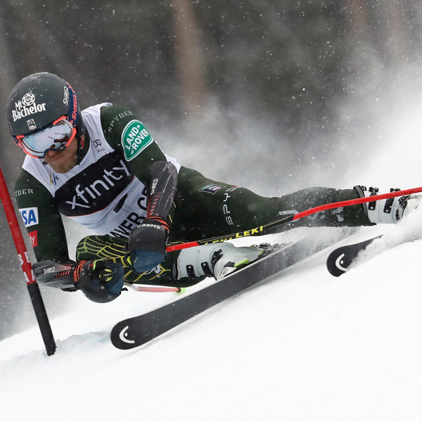 Tommy Ford - two different skis for first World Cup victory