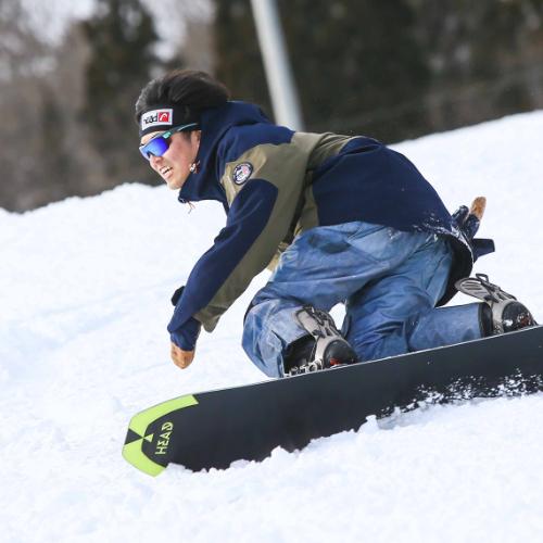 HEAD eyewear on a snowboarder