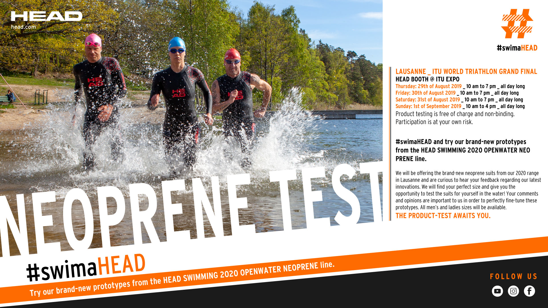 Try the brand-new prototypes from the HEAD Swimming 2020 Openwater Neoprene line!