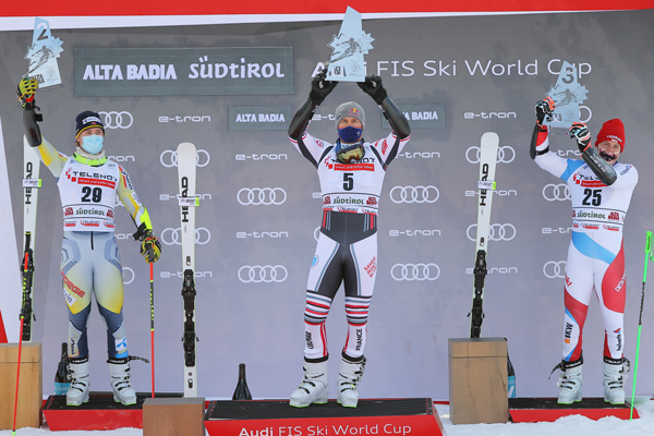 Alexis Pinturault leads triple HEAD victory in Alta Badia, Corinne Suter again fastest in the Downhill