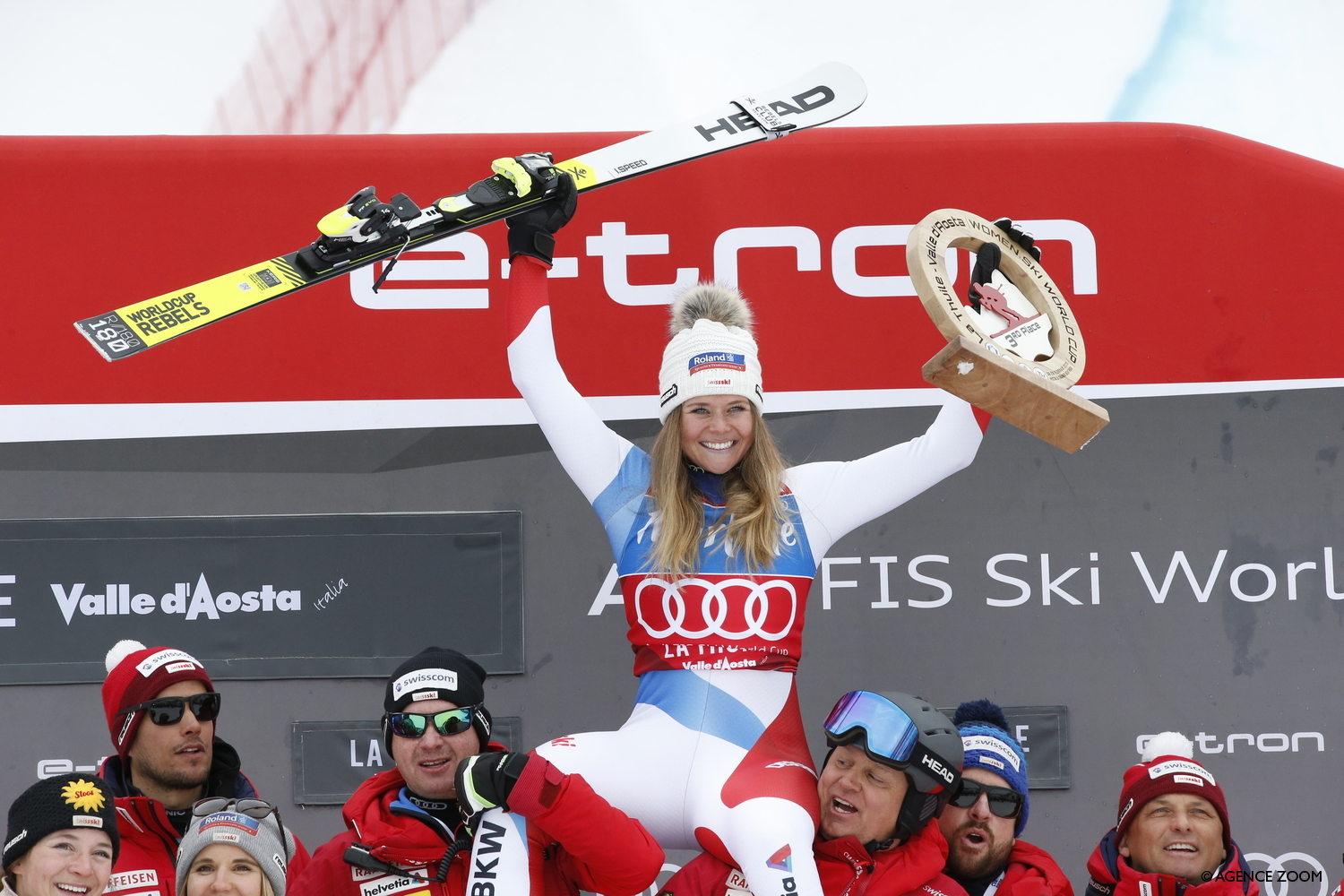 Corinne Suter crowned queen of the speed disciplines