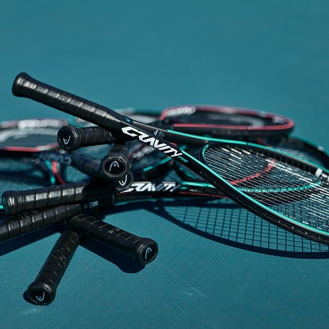 7 Head tennis racquets on hard court