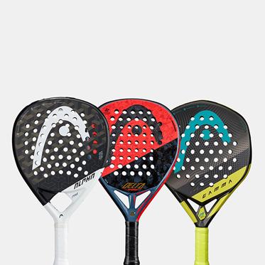 Three HEAD Padel Racquets