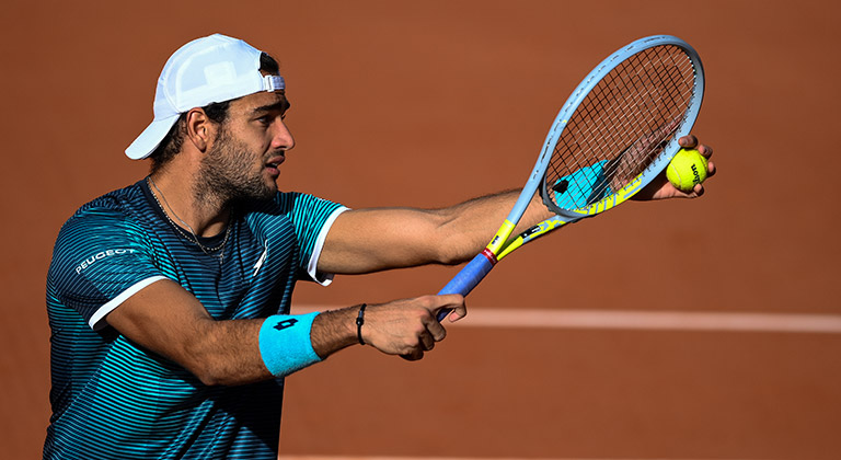 Matteo Berrettini is ready to serve at the French Open