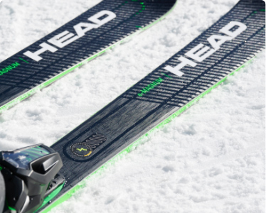 Pair of  Head Skis in the snow to represent ERA 3.0 Technology