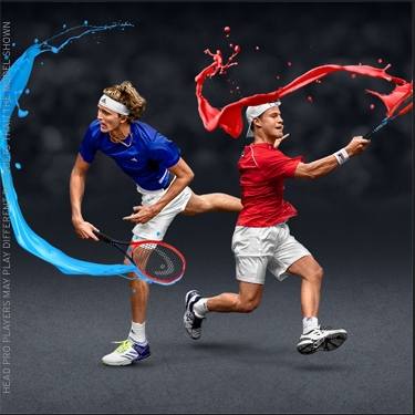 HEAD Players Alexander Zverev and Diego Schwartzmann in a visual for the Laver Cup