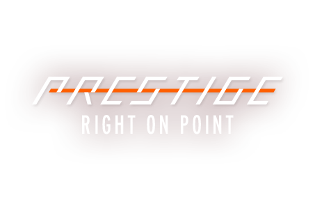 Prestige Racquet Logo - right on point
