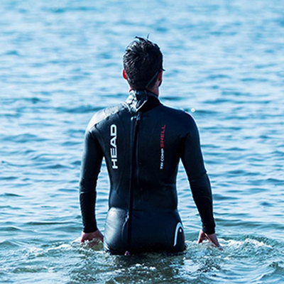 Man wears a HEAD Freeswimming Full Suit