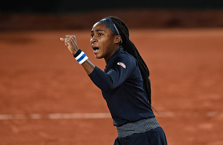"Cori ""Coco"" Gauff pushing herself at the French Open"