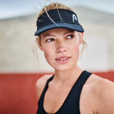 Women wears HEAD Women's Visor