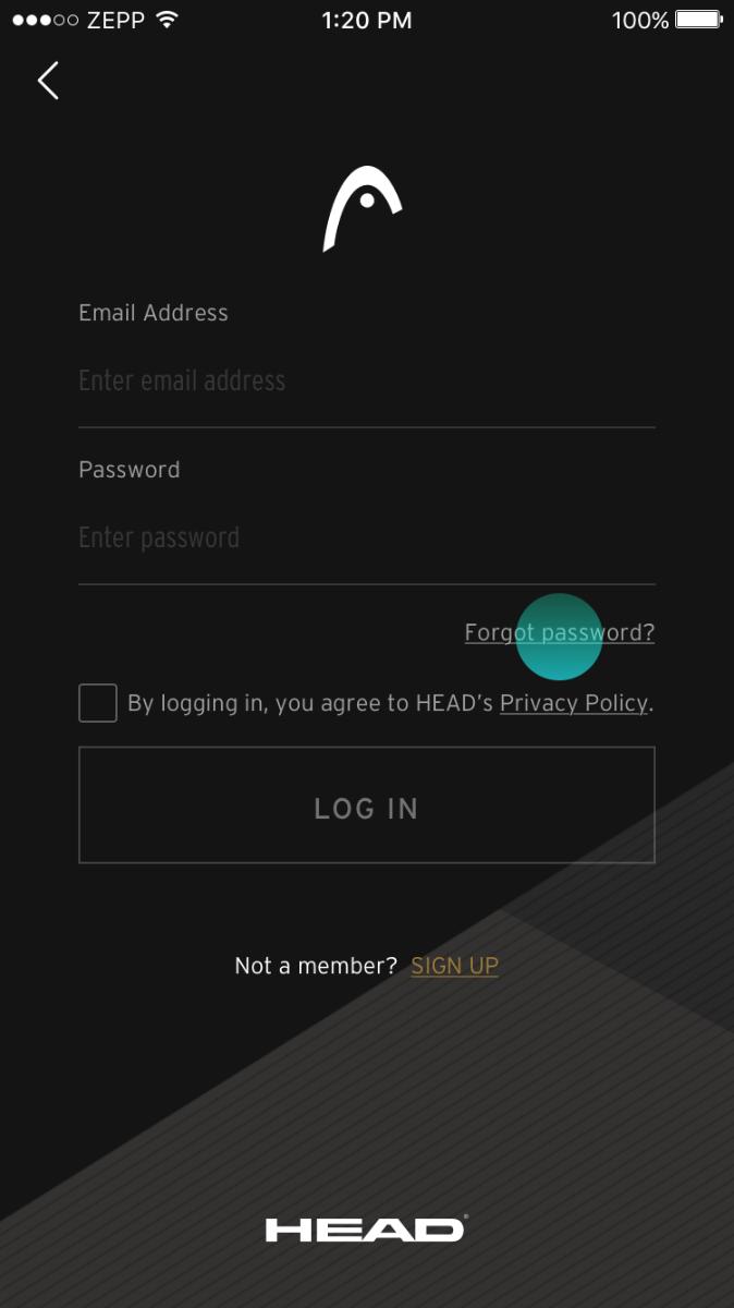 Forget password – 2