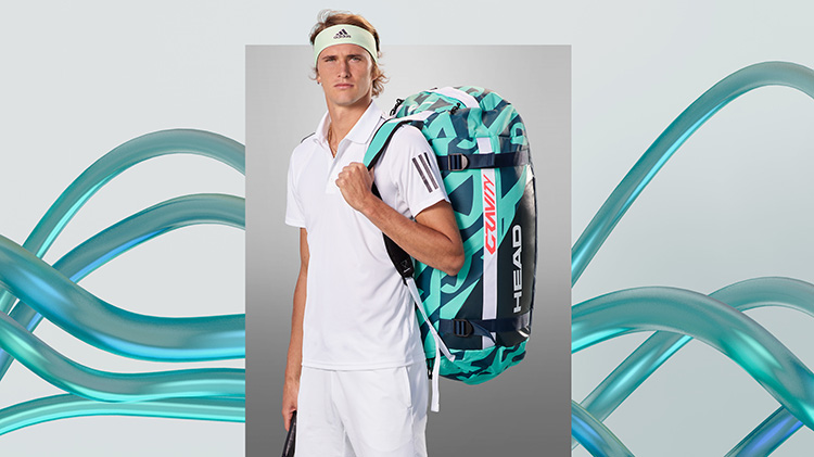 Sacha Zverev with Gravity R-Pet Bag