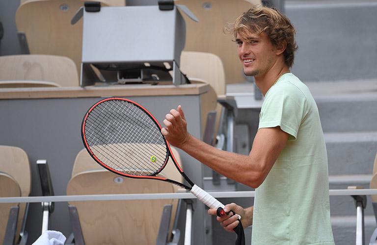 "Alexander ""Sascha"" Zverev at a training session in Paris"