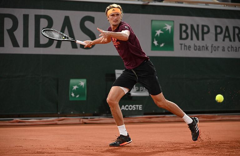 """Alexander """"Sascha"""" Zverev at training in Paris"""